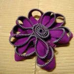 Zip Flower Brooch