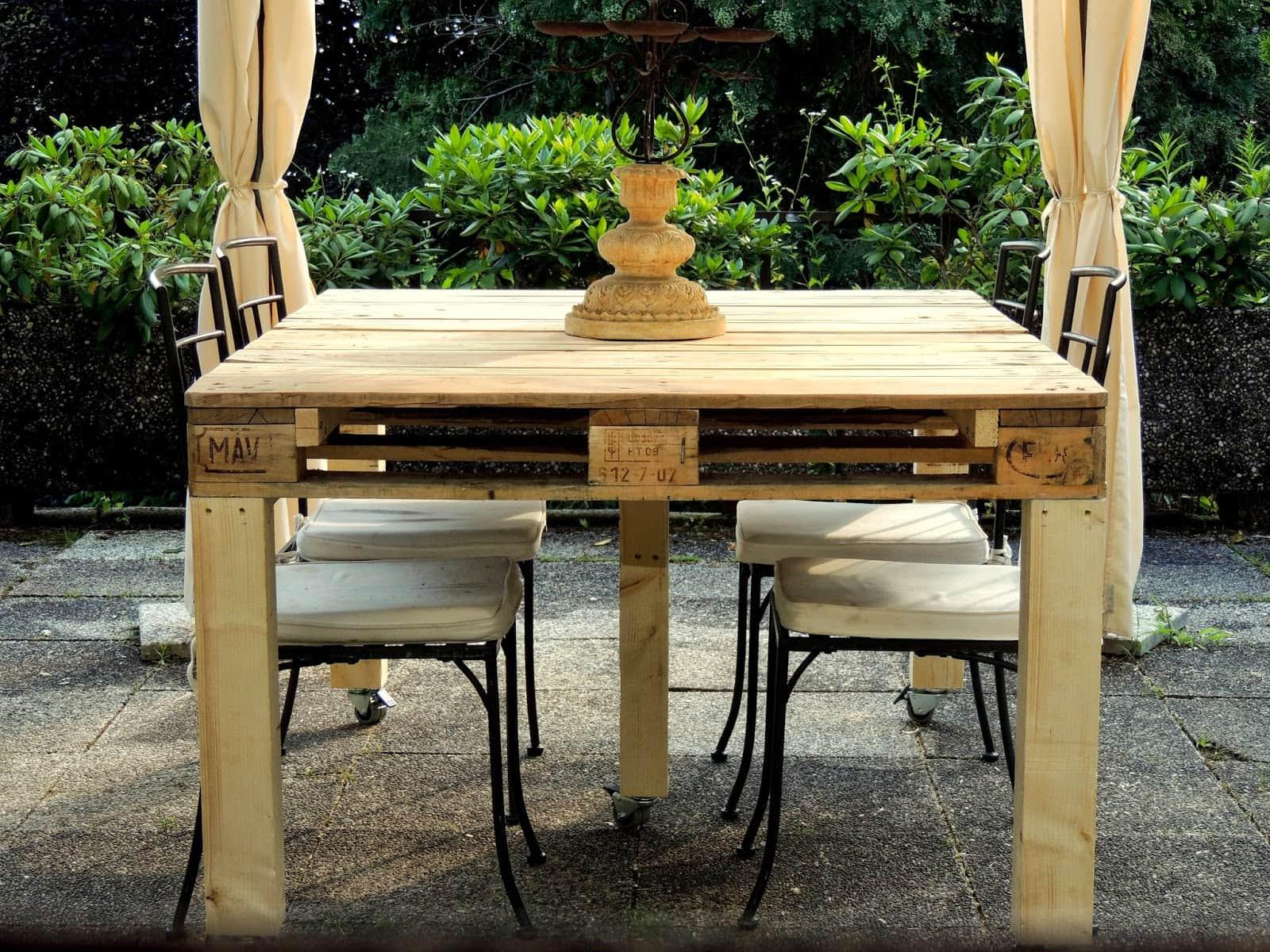 Tavolo pallet love diy - Costruire tavolino ...