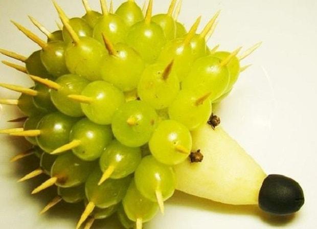 Frutta idee alzatina : Decorazione di Frutta Riccio Uva - Love DIY